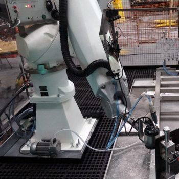 Robotic phased array system installed